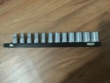 "Mac Tools 1/4"" drive metric short chrome precision torque 12pc socket set 5-15mm"