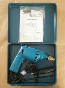 """Makita Corded Hammer Drill NHP1030, Variable Speed, 3/8"""" w/Case"""