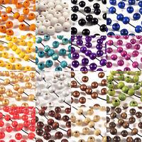 Lot de 100 Perles en Bois 8mm pour Bijoux Finition Française Plusieurs couleurs
