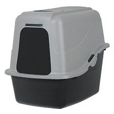 Cat Litter Box, Petmate Hooded Litter Pan Set Large Black/Gray, FREE FAST SHIP