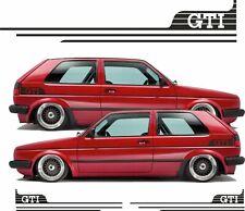 Fits Golf GTI MK2  retro side stripes decal Sticker 16V  8V Syncro any colour