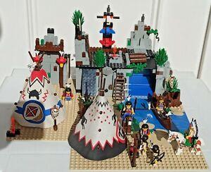 Lego System 6766 Indiens Western Rapid River Village - Complet en très bon état