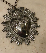 Sacro cuore fiamma sacred hart ex voto Dolosa madonna Jesus statue jesus  7x8cm