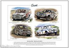 Ford Escort Mk1 Rally Autos - Kunstdruck A3 Größe - Rs1600 Rac Mikkola Makinen