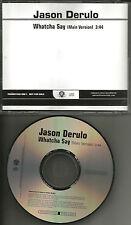 JASON DERULO Whatcha Say 2009 PROMO Radio DJ CD single USA MINT
