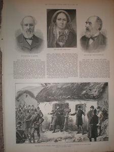 The late writer novelist Ellen ( Mrs Henry ) Wood 1887 old print