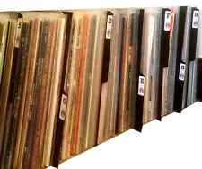 "26 x Black Plastic 12"" inch Vinyl LP Album A-Z Record Collection Tabbed Dividers"
