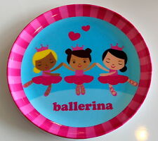 Pink Striped Border Ballerina Plate