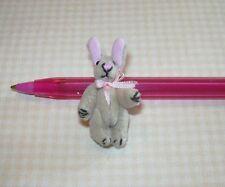 Miniature Wee Tan Velvet Easter Bunny Rabbit, Jointed: DOLLHOUSE 1/12
