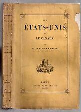 XAVIER MARMIER VOYAGE LES ETATS-UNIS ET LE CANADA 1875 CUBA