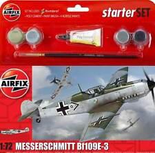 Airfix Messerschmitt Me Bf-109E-3 JG-51 1940 Modell-Bausatz 1:72 + Farbe Pinsel