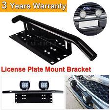 "23"" Bull Bar Front Bumper License Plate Mount Bracket Holder LED Light Off Road"