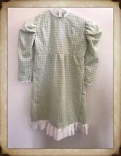 girls pioneer dress colonial laura ingalls green gingham