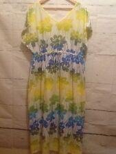 Fresh Produce womens dress SZ 2X lime green & yellow darling