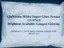 Glow in the dark Powder 1 ounce GloNation Super White glow powder Brightest