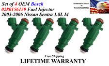 Oem Set Of 4 Genuine Bosch Fuel Injectors For 2003 2006 Nissan Sentra 18l
