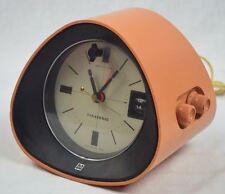 "1969 Panasonic ""The Spencer"" RC-1091 SPACE AGE Earth Tone Orange AM Clock Radio"