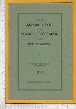 8249 Windham, CT 1942 education report Charles Curran, John Reilly, Mira Briggs