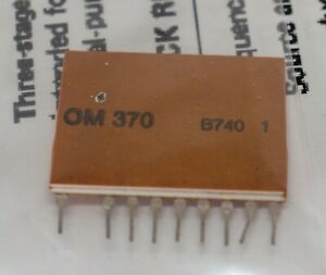 OM370 PHILIPS IC HYBRID VHF / UHF WIDE-BAND AMPLIFIER NEW + SIX-PAGE DATA SHEET