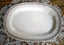 "Vintage Edwin M. Knowles Vitreous 11"" Oval Plate Platter 17-2-10 ~"