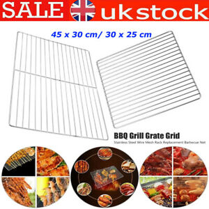 BBQ Stainless Steel Grill Grate Grid Wire Mesh Rack Barbecue Replacement Net UK