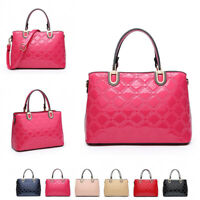 Ladies Designer Patent Handbag Girls Embossed Shoulder Bag Grab Bag WAG MA36429