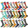 Mens Socks funny Colorful happy Business Party Cotton comfortable Socks A 1Pair