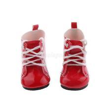 Chaussures bottes 6.5 x 3.5 cm rouge verni pour poupée kidz n cats accessoire