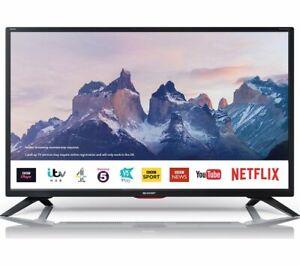 "SHARP 1T-C32BC5KH2FB 32"" SMART WIFI LED LCD TV HD READY FREEVIEW HD HDMI USB"