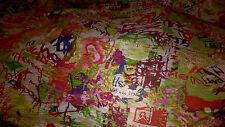 2 metres tissu jersey flamme imprimé 200x150 cm