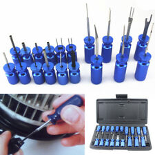 19x Car Electrical Connector Push Pin Tool Kit Terminal Wire Puller Extractor