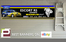 Ford Escort RS Cosworth Banner, Rally Car, Michelin Pilot for Workshop / Garage,