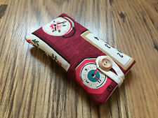 iPhone 5 / 5S / 5C / SE Fabric Padded Case Cover Made Using Cath Kidston Clocks