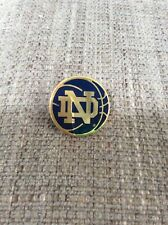 Used UNIVERSITY NOTRE DAME BASKETBALL LAPEL PIN ND