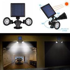 PIR Motion Sensor Solar Light Twin Spotlight, Outdoor Garden LED Light