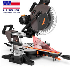 3800rpm 120v 15 Amp 12 In Double Bevel Sliding Compound Miter Saw 40t Blade