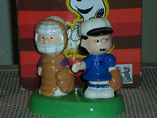 Westland Peanuts Schroeder and Lucy Baseball Magnetic Salt And Pepper Shakers