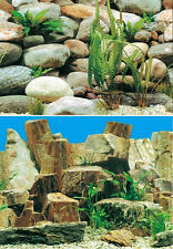 "23.5"" x 60"" Double Sided Fish Tank Aquarium Background Landscape Stone / Rock"