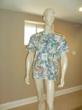 Men's iml Cat print tee White and multicolor Cats at front XL New with tag