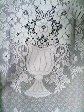 RIDEAU DE CUISINE décor Vase et bouquet longueur 2mx95 trous pour tringle