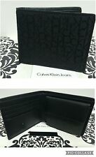 CALVIN KLEIN Coin Wallet Black Jacq/Leather Billfold ID Wallets BNIB RRP£58