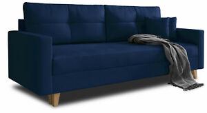 Sofa WINSTON Polstercouch mit Bettkasten und Schlaffunktion Couch Wohnzimmer Neu