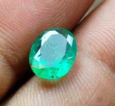 1.85 CT NATURAL EMERALD CERTIFIED LOOSE OVAL CUT ELEGANT ASTROLOGICAL GEMSTONE