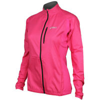 Asics Core Womens Running Jacket Pink Windproof Waterproof Outdoors