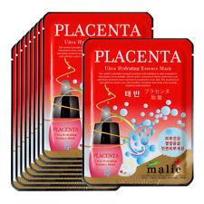 Placenta Face Mask Pack Sheet Moisture Essence Facial Skin Care 9pcs Unisex
