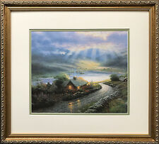 "Thomas Kinkade ""Beacon of Hope"" New CUSTOM FRAMED Art Print PAINTER OF LIGHT"