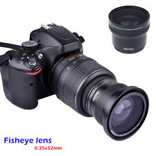 HOT 52mm 0.35x Fisheye Extrem Wide Angle Effect Lens For DSLR Camera Canon Nikon