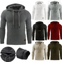 Men Winter Hoodie Slim Hooded Sweatshirts Sport Sweater Pullover Jackets Outwear