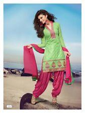 chanderi top pure shantoon salwar kameez, ready to wear  patiala size 38
