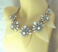 M&S AUTOGRAPH 20's Style Deco Look Glamour Statement Necklace Leaves & Flowers
